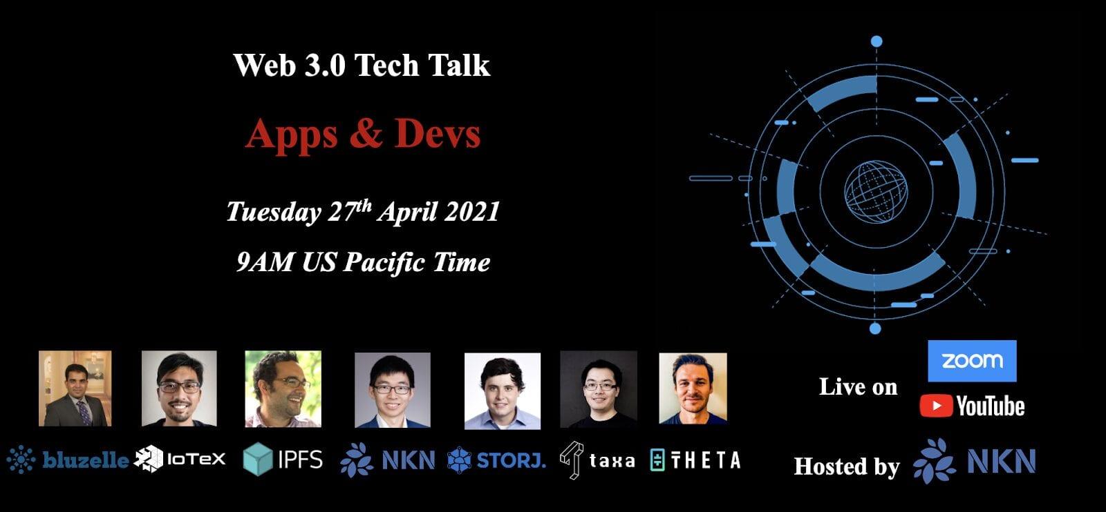 web 3.0 tech talk 2021 apps & devs
