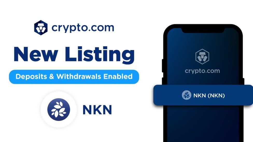NKN listed on crypto.com blog